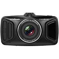 Cansonic UltraDash510 Dash Cam Car Camera DVR Digital Video Recorder with Full HD 1080P, 170 Degree Wide Angle, G-sensor, WDR Night Mode, Loop Recording, Parking mode, 2.7 High Resolution LCD