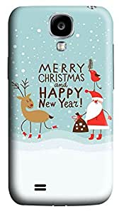 S4 Case, Samsung S4 Case, Customized Protective Samsung Galaxy S4 Hard 3D Cases - Personalized Merry Christams06 Cover