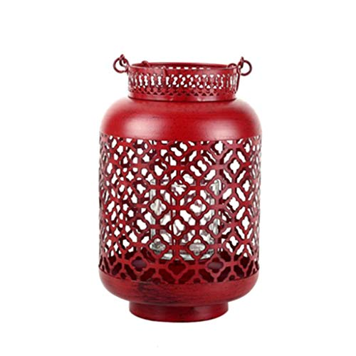 (Gfbyq Candelabras,China Style Retro Hollow Candlestick Candle Stand Holder Candlelight Dinner Decoration Red)