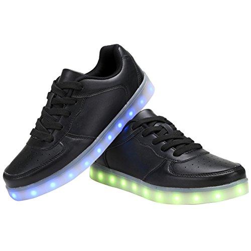 42cfa3d5a2a25 ... COODO Männer Frauen Kinder LED Schuhe 7-Color-Lights USB Lade leuchten  Sneakers Z