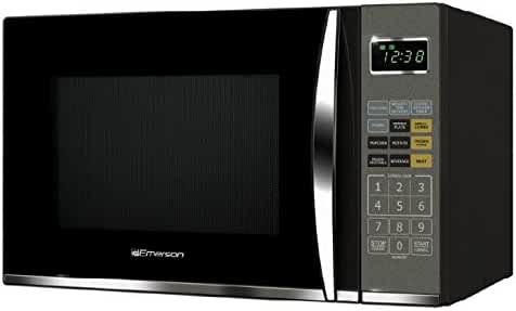 Emerson 1.2 Cu. Ft. 1100W Touch Control, Stainless Steel Microwave Oven with Grill