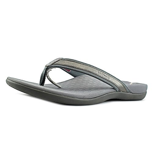 Vionic by Orthaheel Womens Tide II Sandal Pewter Metallic Size 12