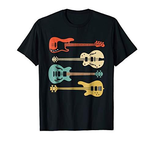 Vintage Retro Bass Guitar T-Shirt Bassist Player Shirt