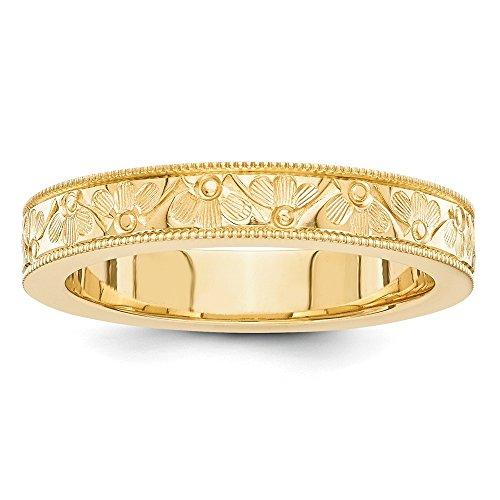 Jewelryweb 14k yellow gold fancy band ring size 8