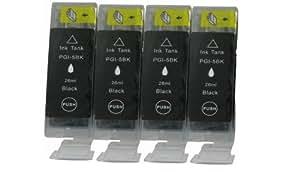 4 Canon PGI-5 compatible.*.*.NEGRO.*.*.Tinta para Canon Pixma iP3300 iP3500 iP4200 iP4300 iP4500 iP5200 iP5300 iP6600D iP6700D iP5200R iP7600 MP500 MP10 MP520 MP530 MP540 MP600 MP610 MP800 MP600R MP810 MP830 MP950 MP800R MP960 MP970 MX850 Pro 9000 Pro 9000 Mark II. 4 x PGI 5BK, 100% garantía de reembolso sin ningún tipo de molestia, con APEX chip, alta capacidad y tinta Dye desde Alemania