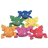 Constructive Playthings Frog Bean Bag Set for Playroom, Classroom, Set of 6