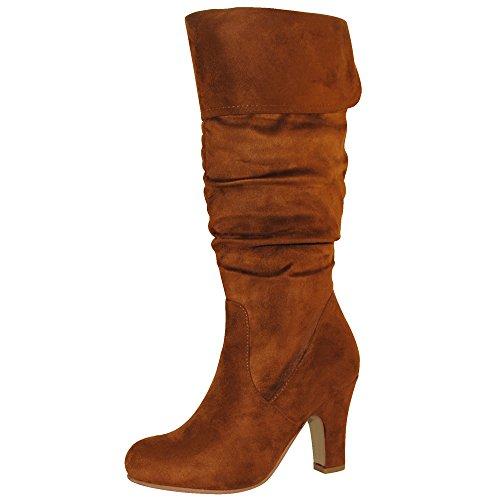 Women's Mid Heel Boots Collection TRENDSup Tan OzqFF