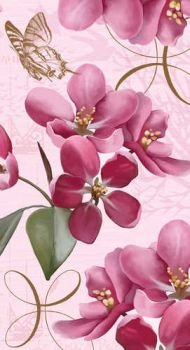 - Cherry Blossoms 3-Ply Buffet Towels 16 per Pack