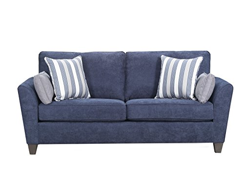 Simmons Upholstery Prelude Navy 7081-04Q Sleeper Sofa, Queen,