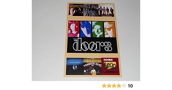Jim Morrison The Doors Handmade Wood Poster 10.25x16.25