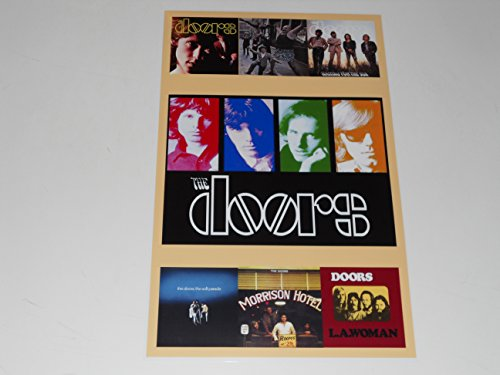 "Large The Doors Album Cover Poster 1967-1971 Jim Morrison 19"" by 13"""