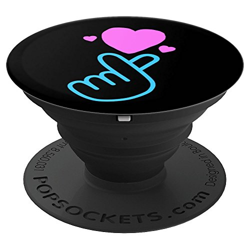 K-Pop Finger Heart, Heart Hand Korean Music Gift Idea - PopSockets Grip and Stand for Phones and Tablets