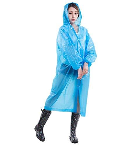 De Femme Imperméable Pluie Blau Ans L Poncho Veste 20 dHTqT