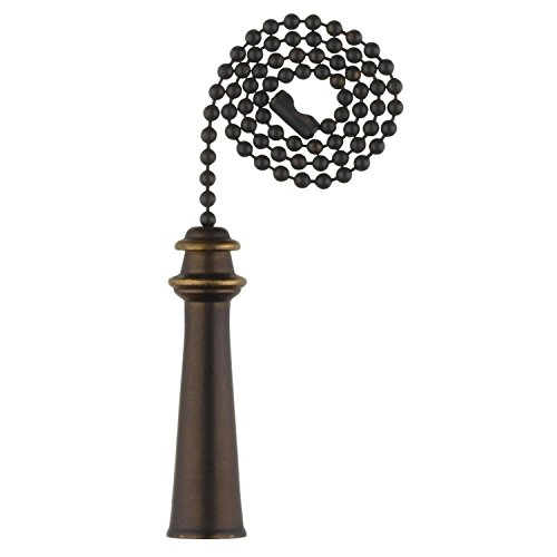 Westinghouse 7721400 Lighting Trophy Pull Chain, Oil Rubbed Bronze
