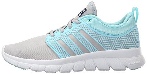 best sneakers 540d5 04fae adidas NEO Womens Cloudfoam Groove W Casual Sneaker,Clear Onix GreyBlue  Zest