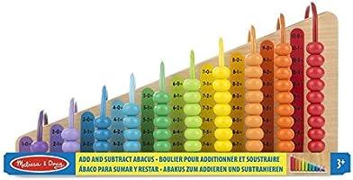Melissa & Doug Abaco con 55 Coloridas Cuentas y 2 Tableros Intercambiables de Madera