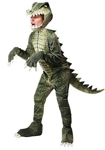 Dangerous Alligator Costume for Children X-Large Green
