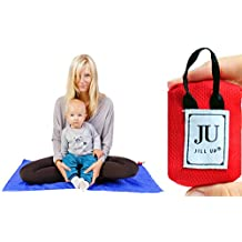 Outdoor Blanket - Compact, Water Repellent, Sand Free Beach / Camping / Travel / Picnic / Pocket Yoga / Meditation Mat - Ultralight, add to Backpack with Carabine or use as Key Holder - Sits 2 Person