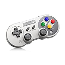 8Bitdo SF30 Pro Wireless Bluetooth Controller with Joysticks Rumble Vibration USB-C Cable Gamepad for Mac PC Android Nintendo Switch Windows macOS Steam