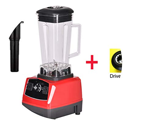 3Hp 2200W Heavy Duty Commercial Grade Blender Mixer Juicer High Power Food Processor Ice Smoothie Bar Fruit Blender,Red Extra Driver,Eu Plug