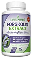 Forskolin Extract Ultimate Weight Loss Formula - 250 mg at 20% for 50 mg Active Forskolin -­ 90 Capsules/45 Day Supply