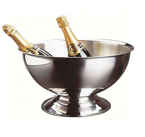 TheKitchenette Grande Vasque à Champagne Acier Inoxydable Gris 40 cm