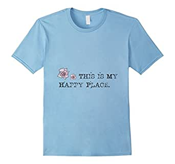 Mens This Is My Happy Place T Shirt Small Baby Blue