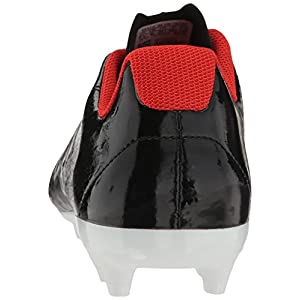 adidas Performance Women's X 17.4 FG W Soccer Shoe, Black/Platino Core Red S, 7 M US