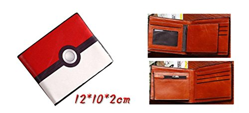 Pokemon Pokeball Red and White Bifold Wallet