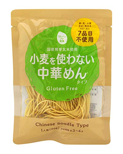 오오가타촌 아키타코마치 생산자 협회 글루텐 프리 습관 밀을 사용하지 않는 중화 면 타입 90g×12 포