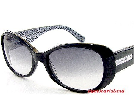 812fcf0b94462 New Coach Kendall S438 S-438 001 Black Sunglasses Black Frame Gradient Gray  Lens Size  55-18-135  Amazon.co.uk  Clothing
