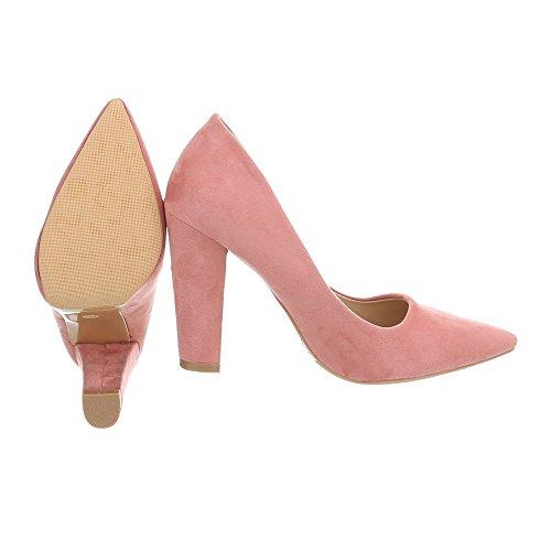 Rosa Ital Mini Mujer Zapatos Tacón Para Design Altos de Zapatos Tacon Tacones x6qZawfn