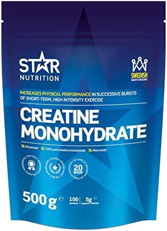Vegan Kreatin Monohydrat von Star Nutrition | 100% Pure Premium Quality | Hochlösliches Veganer Creatin Monohydrat...
