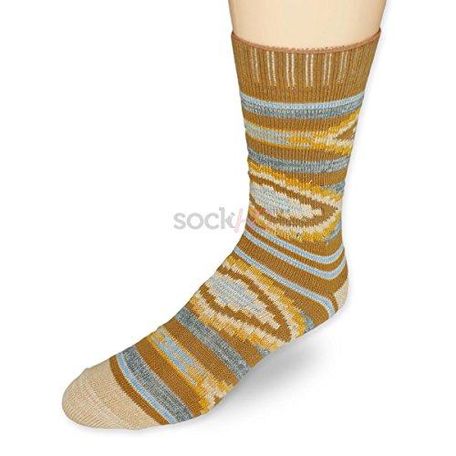 Sock HQ Aztec Fun Comfortable Casual Crew Socks - (Tan Casual Socks)