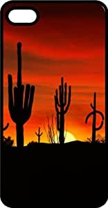 Arizona Desert Cactus Sunset Tinted Rubber Case for Apple iPhone 4 or iPhone 4s