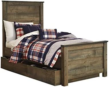 Amazon Com Ashley Furniture Trinell Twin Panel Bed With Trundle