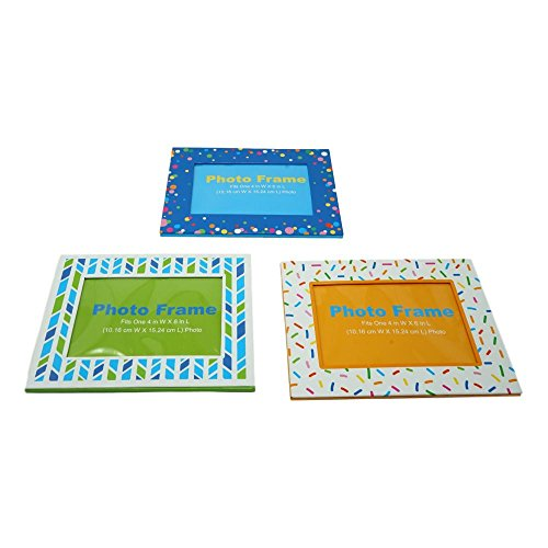 Magnetic Picture Frames for Refrigerator, Set of 3 (Whimsical Frames Picture)