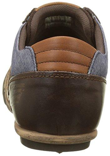 Le Coq Sportif Herren Turin Leather/Chambray Sneaker Marron (Reglisse)