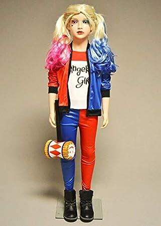Magic Box Disfraz de Suicidio Harley Quinn para niños Small 3-4 ...