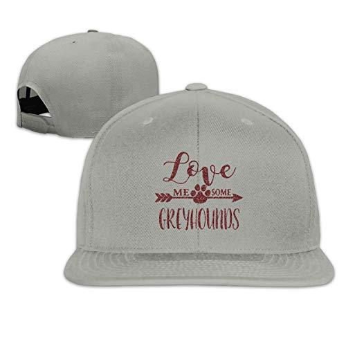 ONE-HEART HR Baseball Cap Love Me Some Greyhounds Adjustable Custom Flat Peaked Hat ()