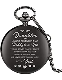 Engraved Pocket Watch, Pocket Watch for Girls, Personalized Gift