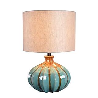 Kenroy Home 35306BLU Coco Accent Lamps, Medium, Reactive Ceramic Glaze