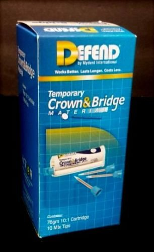 DEFEND Temporary Crown and Bridge Material 76gm Cartridge with tips - Bleach
