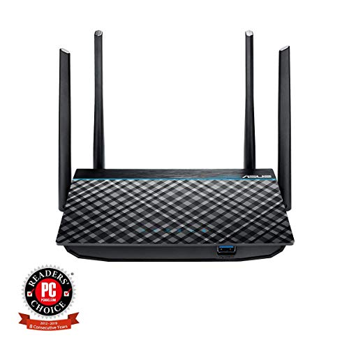 ASUS Dual-Band 2x2 AC1300 Super-Fast WiFi 4-Port Gigabit Router with MU-MIMO and USB 3.0 (RT-ACRH13) from ASUS