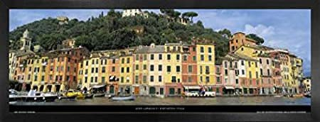 1art1 John Lawrence Poster Reproduction et Cadre MDF - Portofino Italy 95 x 33cm
