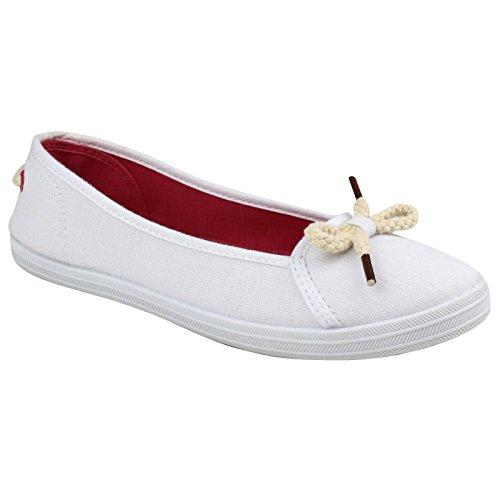 Pink Casual Lopez Divaz Shoe Canvas Ballerinas White xqBwZwgIt