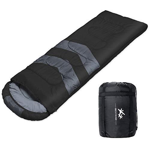BESTEAM Camping Sleeping Bag, 3 Season Warm &