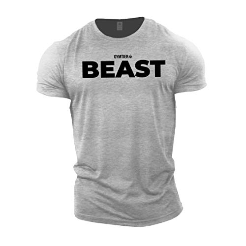 GYMTIER Beast – Bodybuilding T-Shirt | Men's Gym T-Shirt Training Clothing