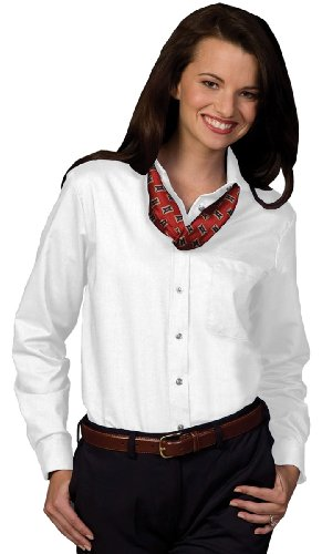 Edwards Oxford Dress Shirt (Ed Garments Women's Easy Care Long Sleeve Oxford Shirt, WHITE,)