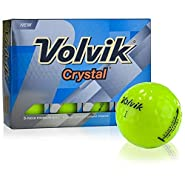 Volvik Crystal Golf Balls (Green, 3 Piece, 12pk, 2018) 1DZ